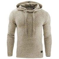 Eqmpowy Fashion Plaid Hoodies Men Sweatshirts Hoodie Sportswear Spring Summer Slim Solid Casual Men Pullover Tracksuit