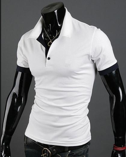 New Mens Clothing Tops Long Sleeve Male   Polos   Shirts Casual   Polos   Shirts Fashion Slim Solid   Polos   Shirt Men