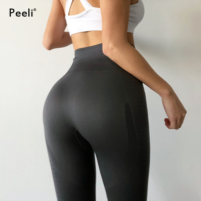 0d64e14c7f Booty Push Up Seamless Leggings Gym Leggins Sport Fitness Women Running  Tights Stretchy Tummy Control Yoga Pants High Waist