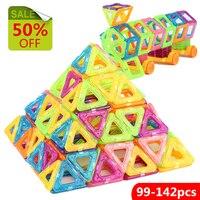 142 Pcs 3 Different Style DIY Magnetic Building Blocks Toy Mini Designer Educational Toys Construction Bricks