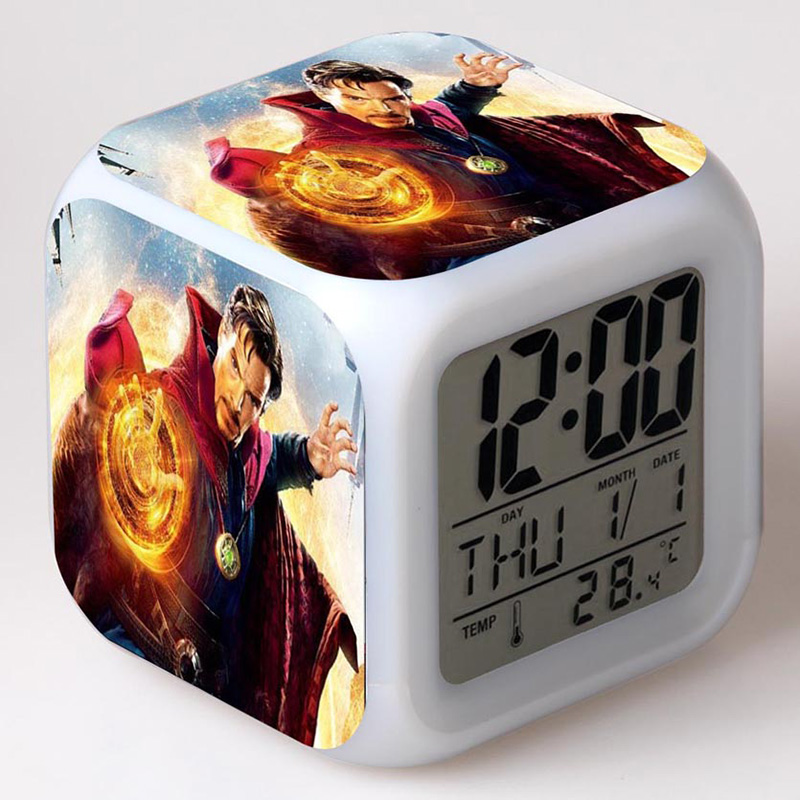 Game of Thrones LED Clock Touch Light Alarm LCD Figures Toy Collect Flash Touch