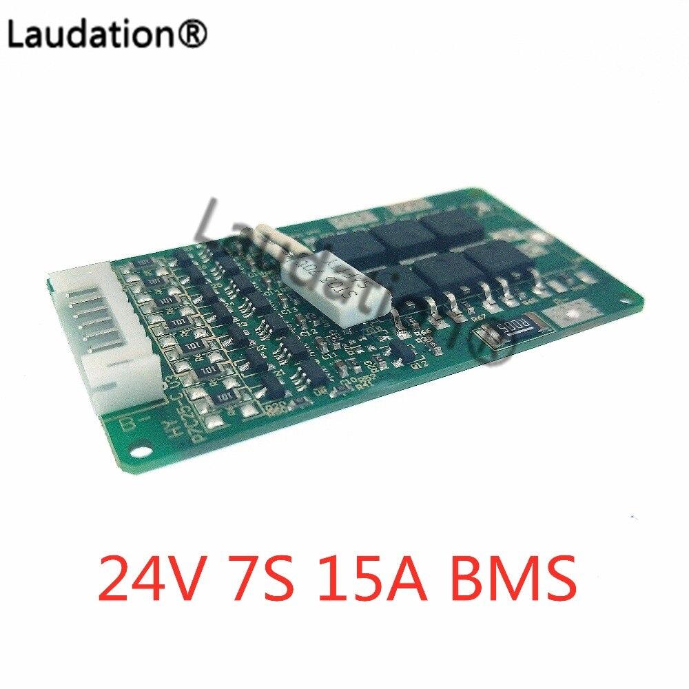 7 S BMS 24V 15A 29 4V Lithium Battery BMS E Bike with Balance Function 24