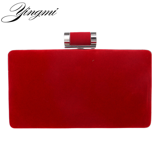 YINGMI New arrival women fashion evening bags clutch evening bag black red handbags with chain women messenger shoulder bags