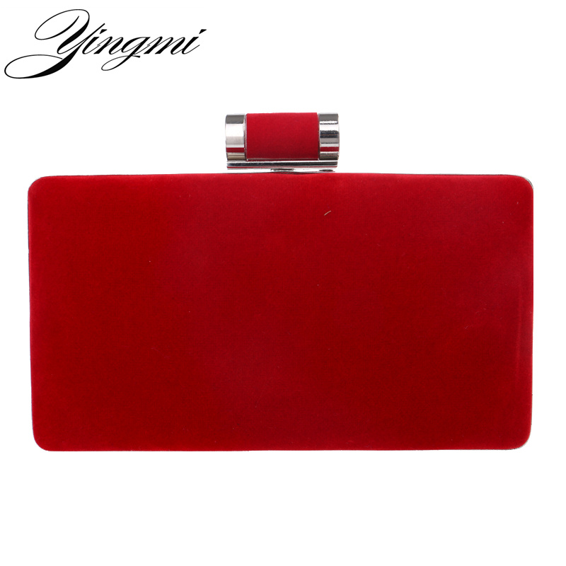 YINGMI New arrival women fashion evening bags clutch evening bag black red handbags with chain women messenger shoulder bags long fashion crystal evening bags designer clutch famous brand women golden evening bags with chain women shoulder bag sc519