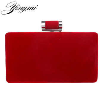 YINGMI New arrival women fashion evening bags clutch evening bag black red handbags with chain women messenger shoulder bags - DISCOUNT ITEM  7% OFF All Category