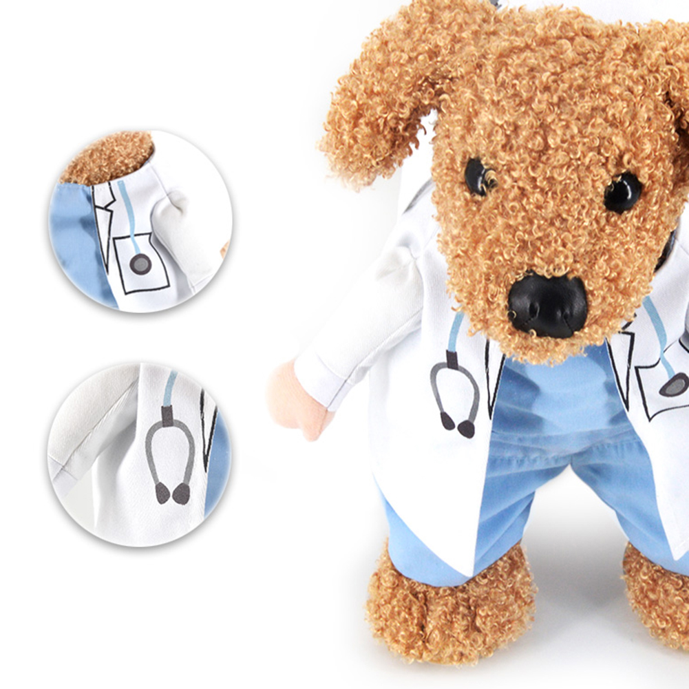 Lovely Cat Hollowen Pet Doctor Design Suit Masquerade Hallowmas Xmas Puppy Dog Apparel