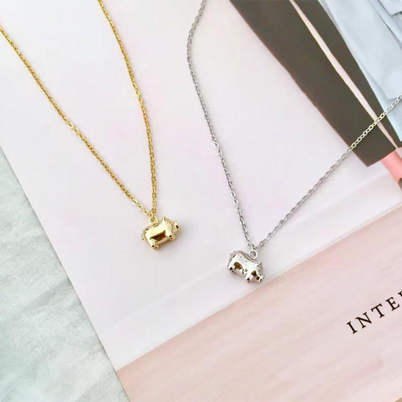 f6912087ef59d S925 Silver Necklace 2019 Korean Version of The Year of The Pig ...