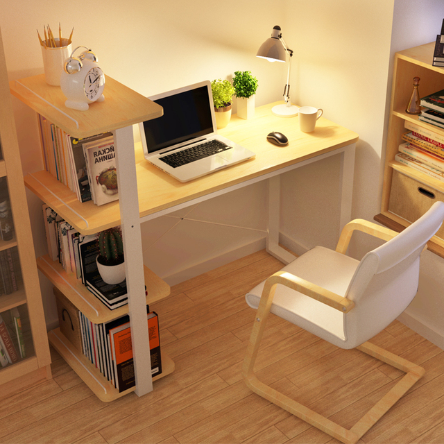 chao soil minimalist modern home desktop computer desk combination bookcase bookcase simple small desk office desk - Desks With Bookshelves