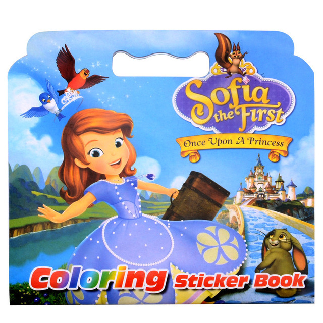 Creative The First Coloring Sticker Book For Children Adult Relieve Stress Kill Time Graffiti Painting Drawing Art Book