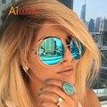 Aimade Moda Mujer Grande Tamaño Grande Retro de Gran Tamaño gafas de Sol Redondas Gafas de Sol de Espejo Señora UV400 Diseñador de la Marca Femenina de La Vendimia