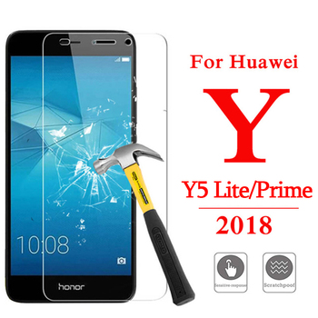 Protective glass on the for Huawei Y5 Lite Prime 2018 Y 5 5y light Tempered glas screen protect huawey huvai cover protect film image