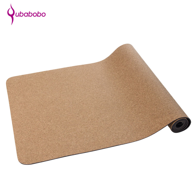 [QUBABOBO]5mm Cork+Natural Rubber Yoga Mat Gymnastic Dedicated Balance Cushion Yoga Meditatie Pilates Balance Sport Non-slip Mat more longer new style 183cm 68cm 5mm natural rubber non slip tapete yoga gym mat lose weight exercise mat fitness yoga mat