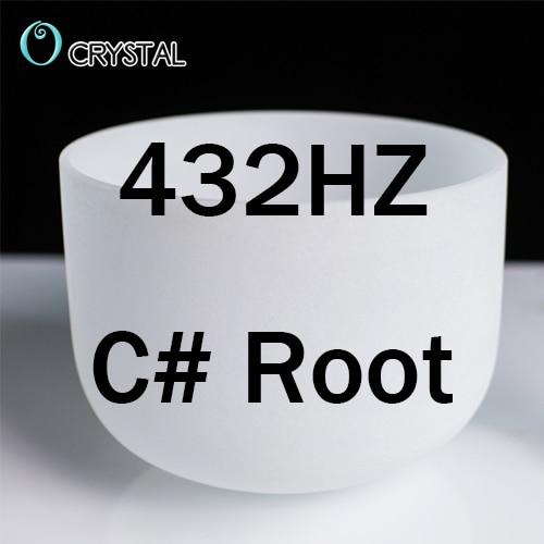 US $46 08 64% OFF|8inch Note Perfect Sound C/D/E/F/G/A/B Chakra Frosted  Quartz Crystal Singing Bowl 8