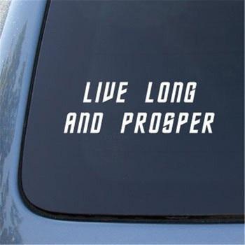 Bargain Max Live Long Prosper - Star Spock Vulcan Sticker Die Cut Decal Notebook Car Laptop 8 (White) guitar sticker