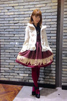 Princess sweet lolita coat Japanese preppy chic woolen cloth coat embroidery pure color ruffles tweed coat HT019