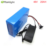 DIY 48v 25ah bafang e bike battery pack 48v 1000w lithium ion battery for electric skateboard with charger and bms