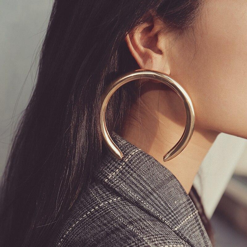 Aensoa Trendy Große Offene Runde Ohrringe Für Frauen
