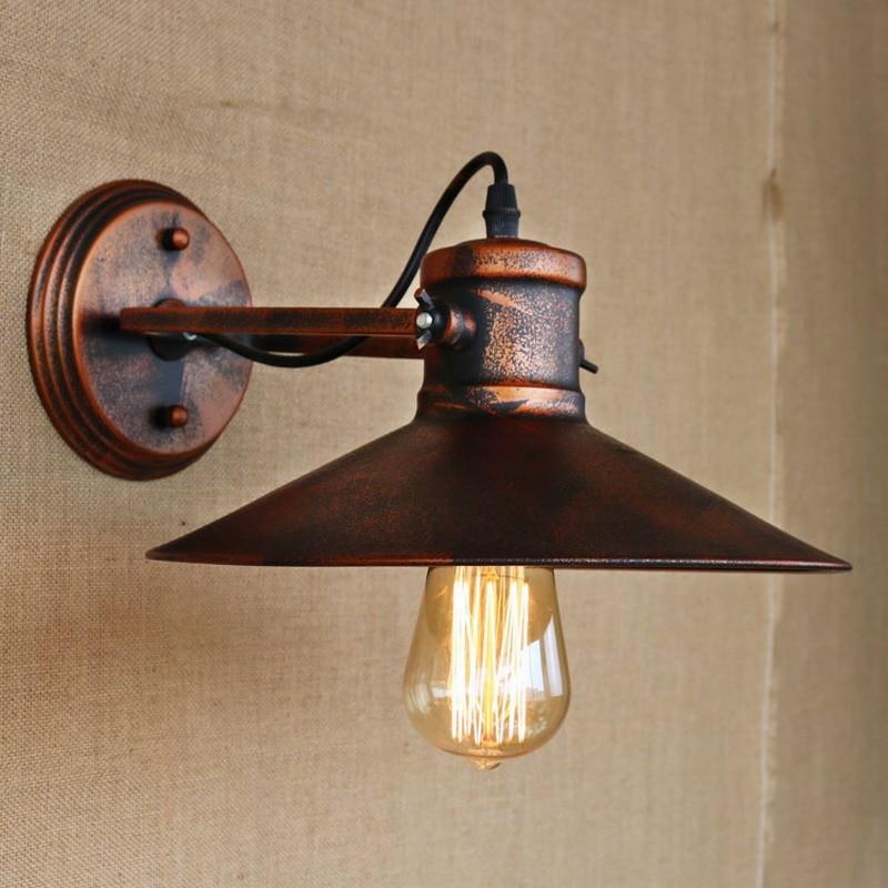 Reto vintage antique rust swing head wall lamp led E27 for ...