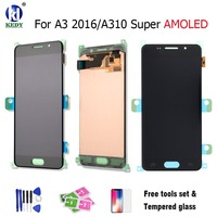 For SAMSUNG GALAXY A3 2016 A310 A310F A310H A310M A310Y AMOLED 100 LCD Display With Touch
