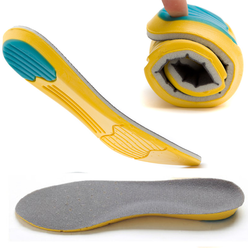 MWSC Soft Insoles Professional Cushion Foot Care Shoe Inserts Pad Shoe Gel Cool Deodorant Orthotic Silicone Insoles