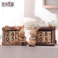 Zakka retro imitation small wooden calendar calendar desktop decoration decor Home Furnishing birthday Garden