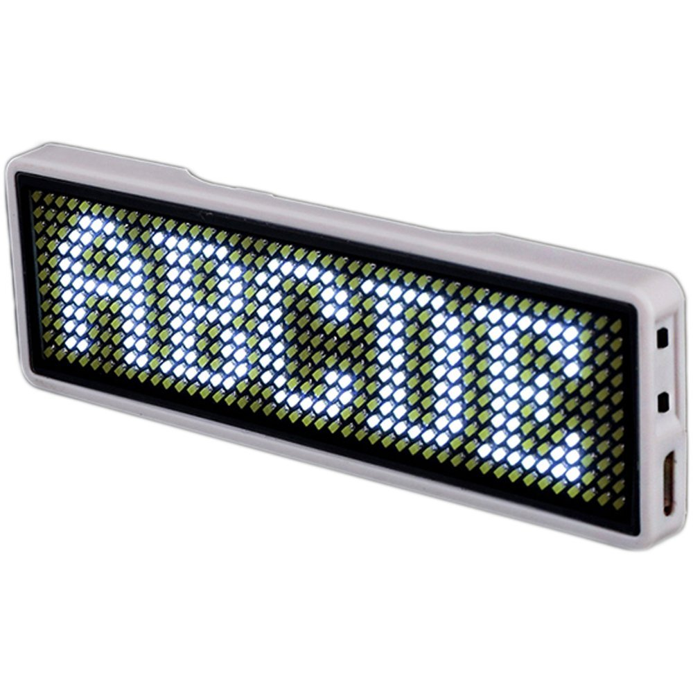 Blueteeth LED Name Neon SignTag Business Card Screen Digital Rechargeable ID For Restaurant Shop Office App Control Board 11*44