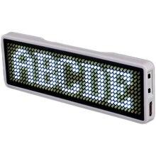 Blueteeth LED nom néon SignTag carte de visite écran numérique Rechargeable ID pour Restaurant magasin bureau App tableau de contrôle 11*44