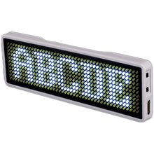 Blueteeth светодиодная неоновая вывеска с именем, экран для визиток, цифровой перезаряжаемый идентификатор для ресторана, магазина, офиса, панель управления приложением 11*44