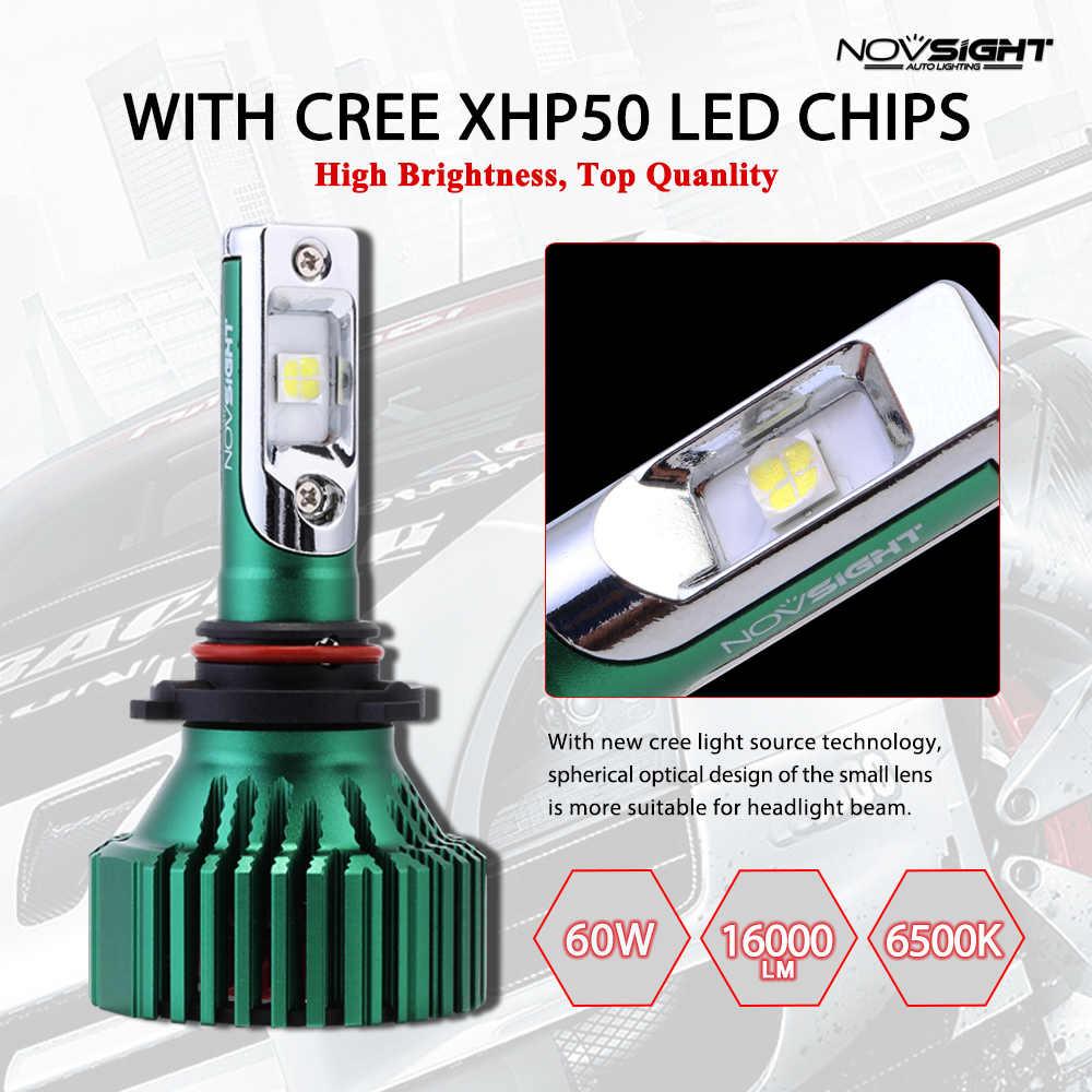 Novsight 16000lm Easy Installation lamp h7 Turbo Led Headlight H4 H11 HB4 9005 HB4 9006 ZES Chips 6500K Auto Fog Lights 12V 24V
