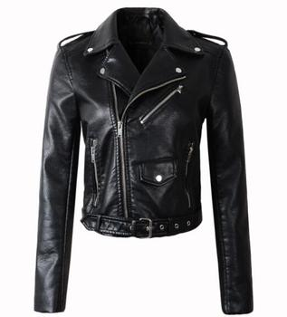 New Arrival brand Winter Autumn Motorcycle leather jackets yellow leather jacket women leather coat  slim PU jacket Leather 9