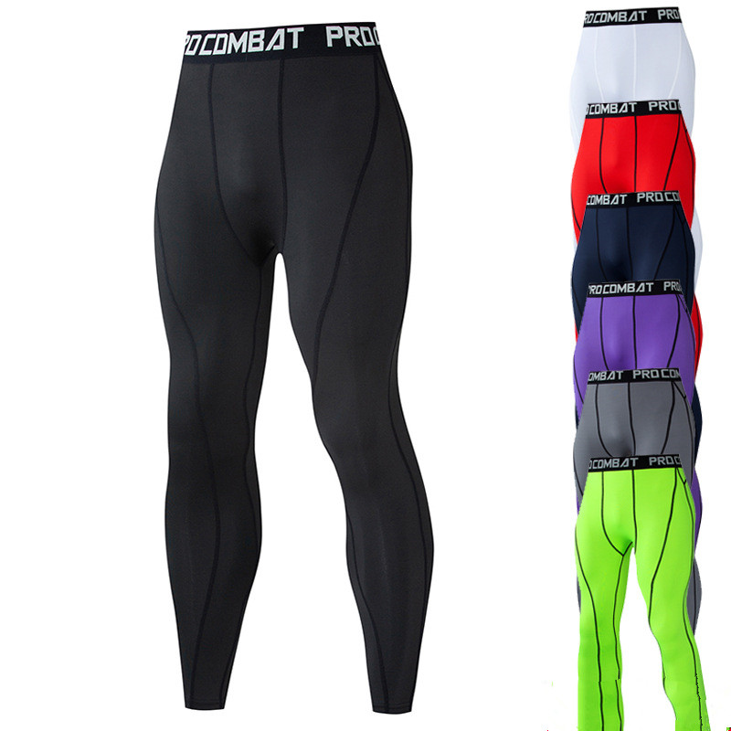 Running Compression Pants Men Sports Sportwear Long Trousers Fitnness Male 3XL Riding Casual Skinny Slim Fit Quick Dry Leggings