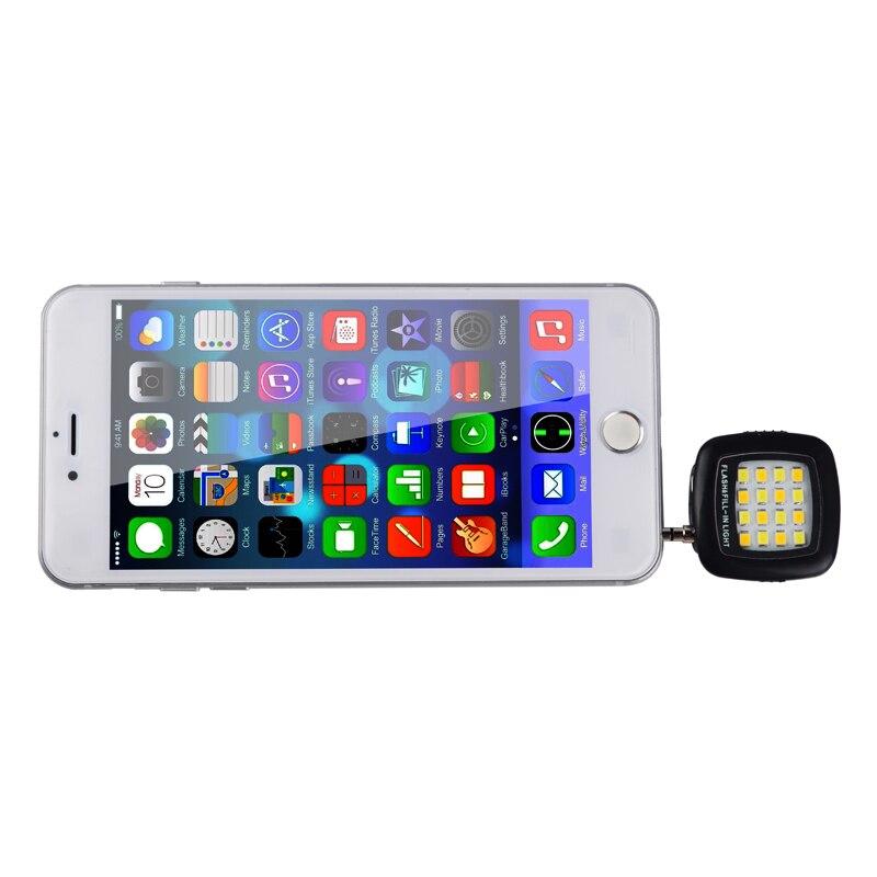 Мини 16-подсветкой ночного использования селфи повышения затемнения вспышки света телефона Камера флэш-заполнить лампа для смартфонов lp1278