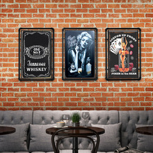Whisky cartel de hojalata vintage Bar decoración de pared de hogar y bares Retro Metal arte cerveza café placa con afiche 30*20cm 1001 (324)