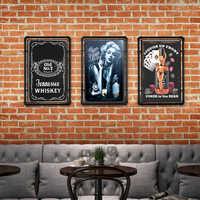 Whiskey Vintage Tin Sign Bar Pub Home Wall Decor Retro Metal Art Beer Coffee Poster Plate 30*20cm 1001(324)