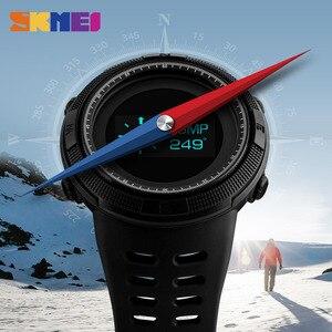 Image 4 - SKMEI Men Sport Watch Pedometer Calorie Digital Watches Top Male Clock Compass Thermometer Wrist Watch Man Relogio masculino1360
