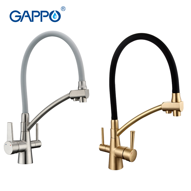 GAPPO water filter taps kitchen faucet mixer kitchen taps mixer sink faucets water purifier taps kitchen mixer filter GA4398 sognare 100% brass marble painting swivel drinking water faucet 3 way water filter purifier kitchen faucets for sinks taps d2111