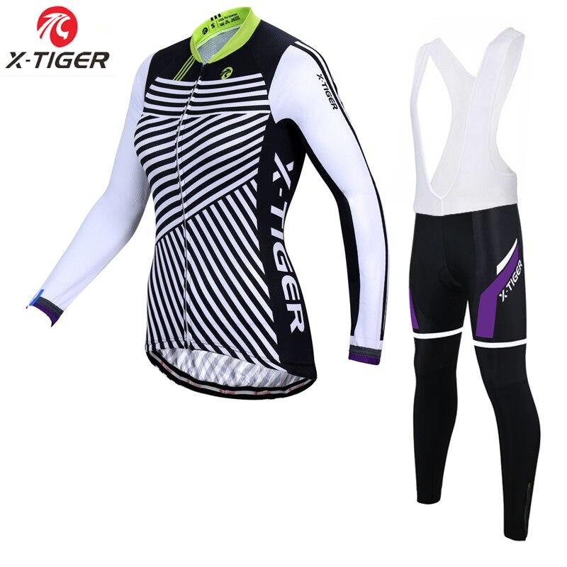X Tiger Women Anti UV Spring Pro Women Cycling Jersey Set /Mountian Bike Wear Cycling Bicycle Clothes Womens Cycling Clothing-in Cycling Sets from Sports & Entertainment    1