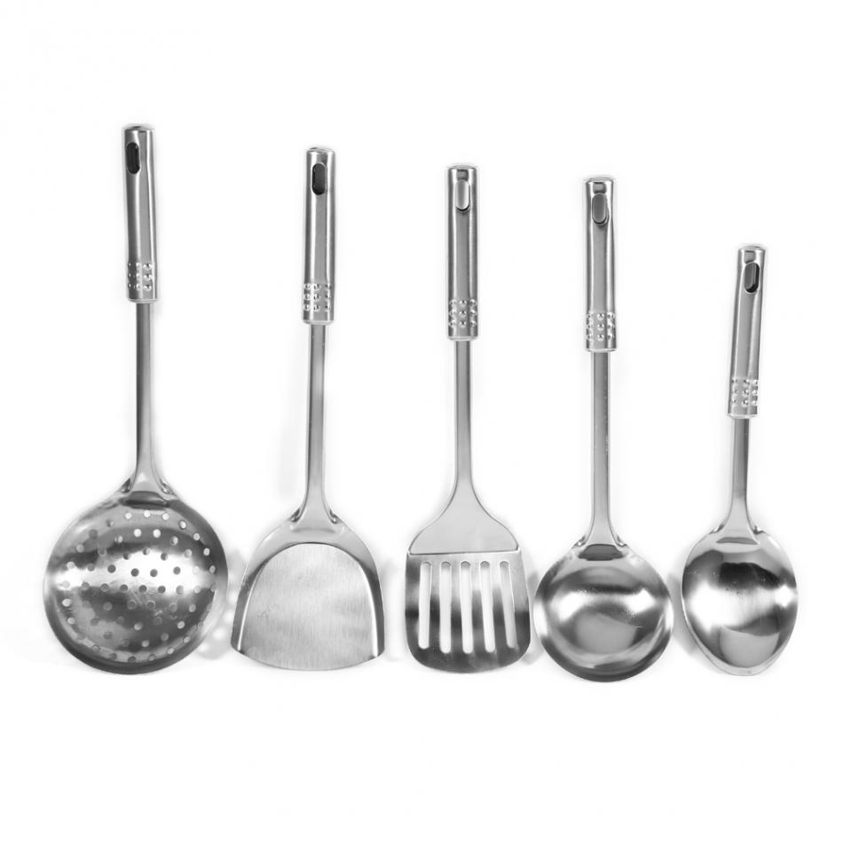 US $8.01 40% OFF|5Pcs/set Multi functional Kitchen Utensil Set Stainless  Steel Spoons Shovel Spatula Kitchen Cooking Utensils Tools Free Shipping-in  ...