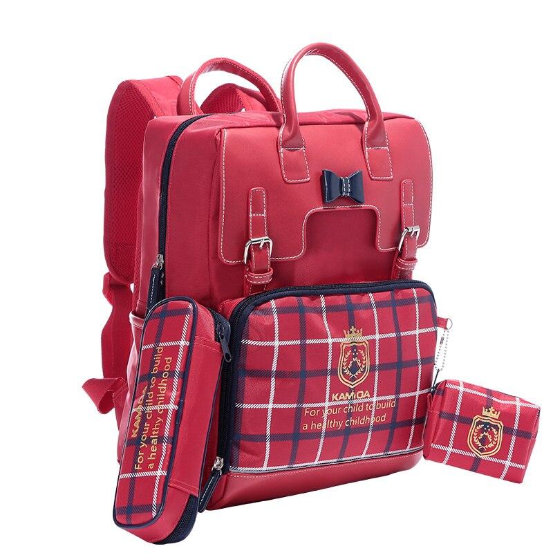 Wysokiej klasy marki pakiet torby szkolne dla dzieci ochronę dla dziewczyn chłopcy torba dla dzieci światło bezpieczeństwa Bar wodoodporny w szkole podstawowej szkoły w Torby szkolne od Bagaże i torby na  Grupa 2