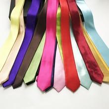 5 см ширина сплошной цвет Модные Узкие галстуки полиэстер узкие тонкие галстуки для взрослых школы детей партии