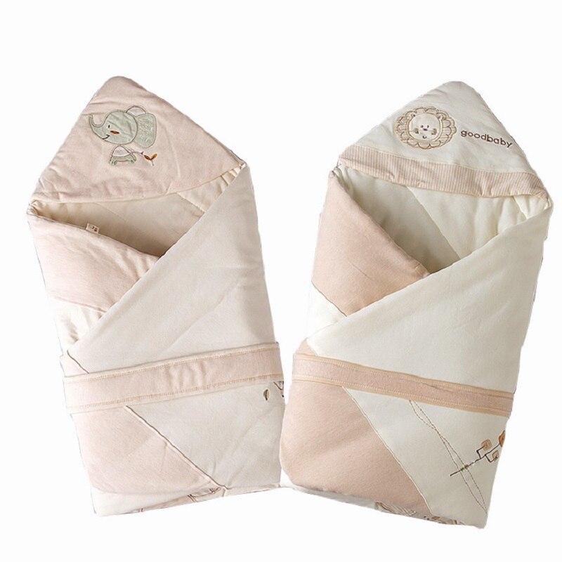 2019 couleur organique coton hiver plus épais surdimensionné sac de couchage pour nouveau-né wrap sac de nuit bébé dormir comme couverture emmaillotage
