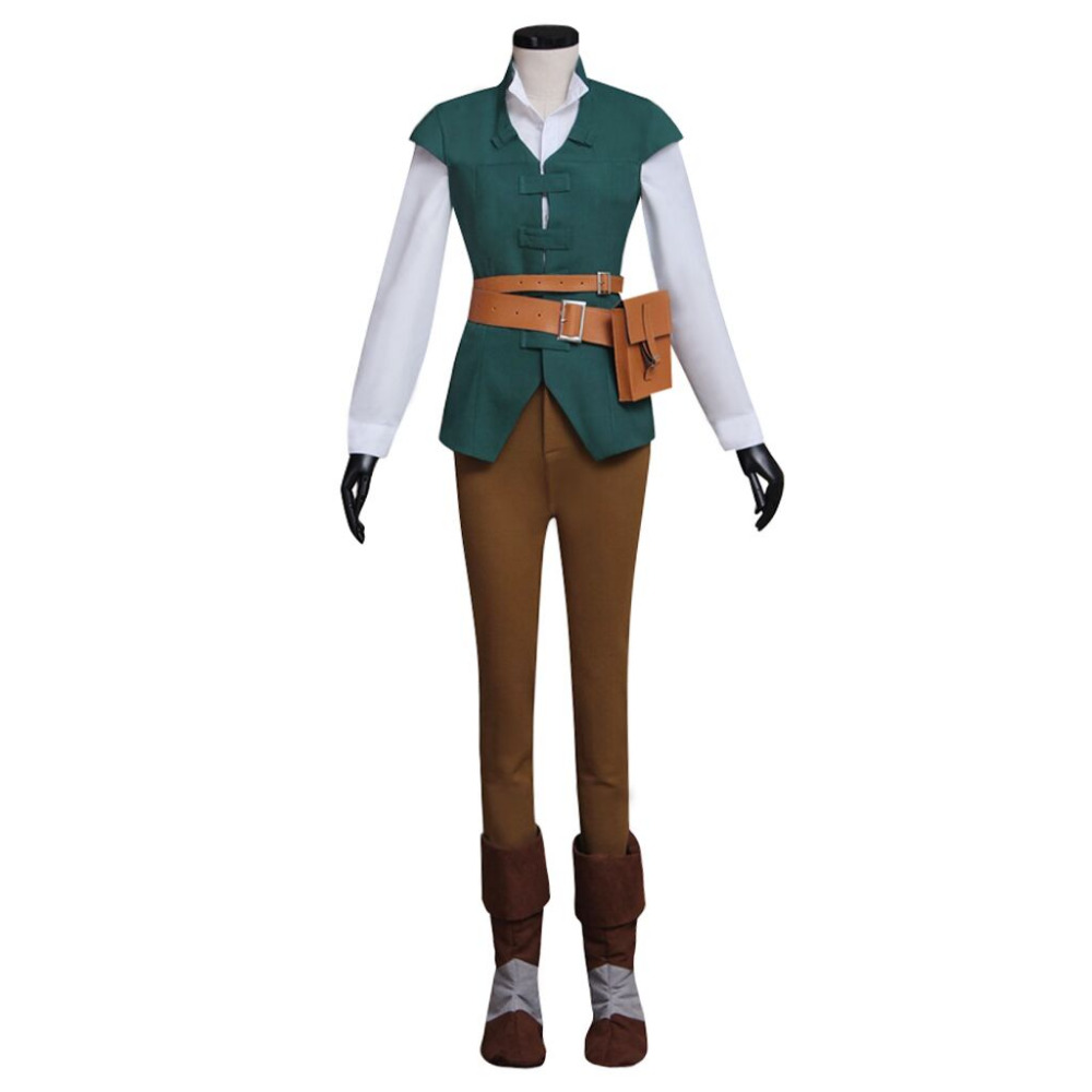 Tangled Rapunzel Flynn Rider Costume Prince Uniform Daily Hunting Outfit Adult Women's Halloween Carnival Cosplay Costume