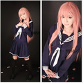 Espejo Vocaloid Hatsune Miku luka Cosplay traje de marinero v uniforme escolar