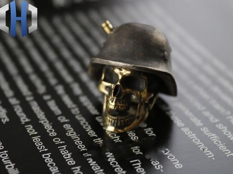 Огорченный Стерлинговое серебро латунь инкрустированный немецкий нож для шлема кулон EDC брелок Аксессуары для инструментов нож бусы - 3