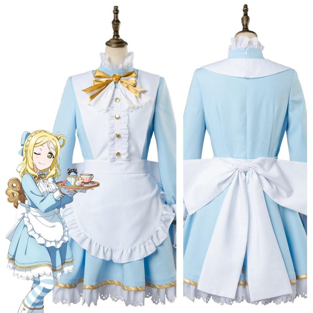 Love Live!Aqours Mari Ohara Wonderland Alice Ver Cosplay Costume Maid Suit Dress lovelive love live kunikida hanamaru wonderland alice cosplay costume maid suit dress