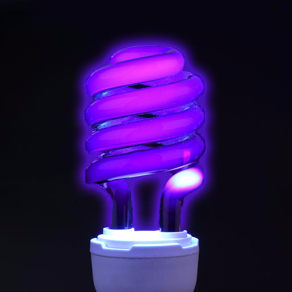 E27 220V <font><b>UV</b></font> Light Bulb Ultraviolet Lamp Fluorescent Black Spiral Violet Light Energy Save Germicidal Insect Moth Killer Lamps image