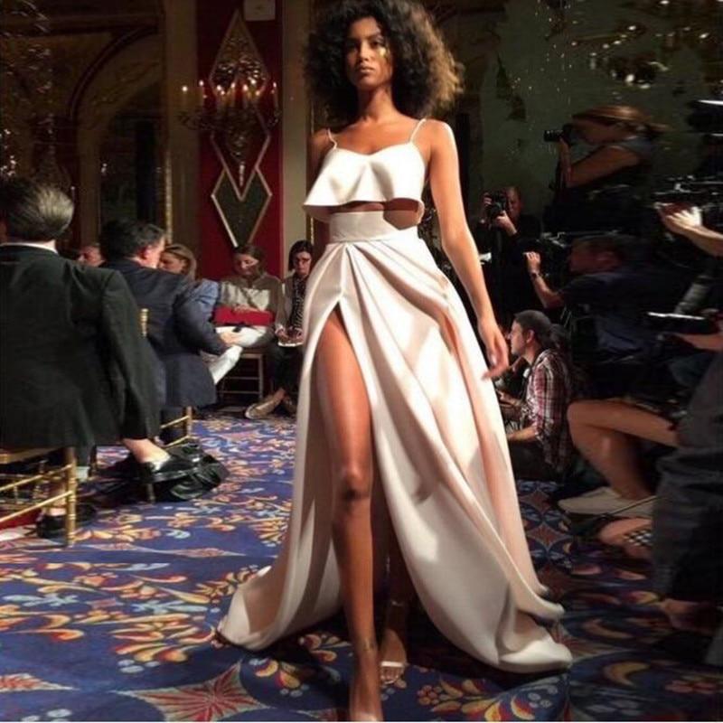 Hendidura Marfil Piso Lateral Saias Falda En Cintura Una Mujeres 2019 De Las Línea Alta Adulto Faldas Elegante Moda Longitud Larga 5qwp7CF