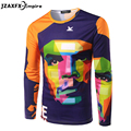 Che Guevara Homens Design de Moda 3D T-Shirt de Manga Comprida Masculina Casual O Pescoço Projeto Top T-shirt de che guevara t camisas