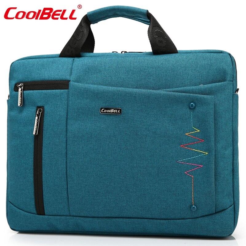 Cool Bell Brand 14.4,15.6 inch Laptop Bag Men Women Notebook Bag Waterproof Computer Bag Laptop Briefcase Shoulder Messenger Bag