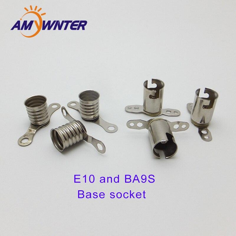 #47 Bulbs Miniature Bayonet Bulb Holder Lamp Socket Metal Bracket Ba9S Base Ex